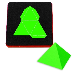 Ellison AllStar Die - Pyramid 3-D, Triangle Base 2""