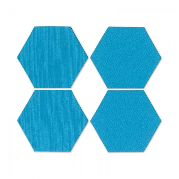 ellison allstar die pattern block multiples 1 sides hexagon 4 up