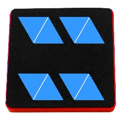 "Ellison AllStar Die - Pattern Block Multiples 1"" Sides, Triangle 8-Up"