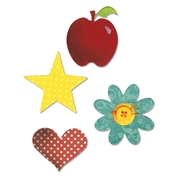 Ellison AllStar Die - Apple, Flower, Heart & Star ELA10598