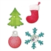Ellison AllStar Die - Christmas Tree, Ornament, Snow flake & Stocking