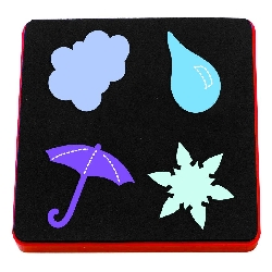 Ellison AllStar Die - Cloud, Raindrop, Snowflake & Umbrella