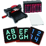"Ellison AllStar SuperStar Starter Set w/Block Alphabet 1 1/2"" Uppercase Letters & Numbers"