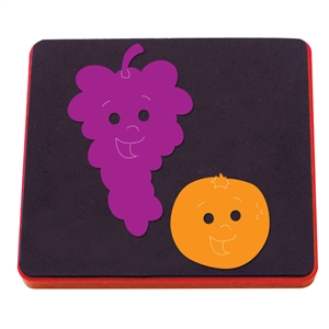 Ellison AllStar Die - Fruit Friends: Grapes & Orange - ELA10943