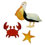Sizzix Bigz Die Cut - Crab, Pelican & Star Fish