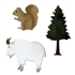 Sizzix Bigz Die Cut - Mountain Goat, Squirrel & Pine Tree