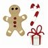 Sizzix Bigz Die Cut - Candy Cane, Gingerbread Man & Gift
