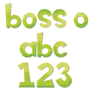 "Sizzix Bigz XL Alphabet Die - Boss-O! 1 1/2"" Lowercase Letters & Numbers"