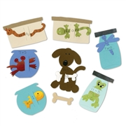 Sizzix Bigz Die - Pet Shop Flashcards (4 Die Set)