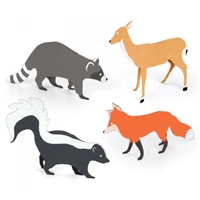 Deer, Fox, Racoon, Skunk