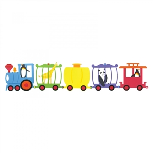 Train Cars, Tanker, Caboose, Zoo Car