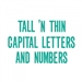 Sizzix Bigz XL Alphabet Die - Tall 'N Thin Capital Letters & Numbers