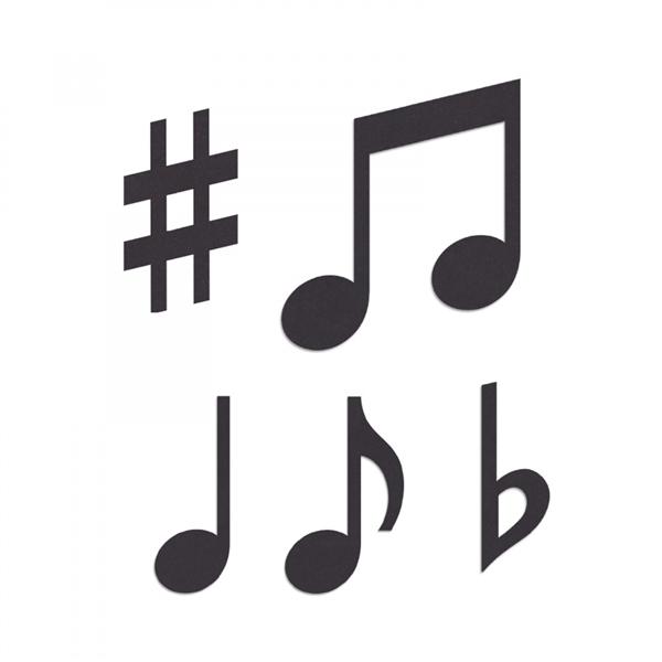 ***DISCONTINUED*** Sizzix Originals Die - Music Notes