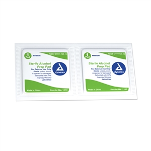 Alcohol Prep Pad Sterile - Medium 10/200/Cs