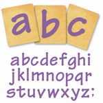 Ellison SureCut Die Set - Lollipop Lowercase Letters- 4 inch