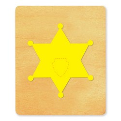Ellison SureCut Die - Badge, Sheriff - Large