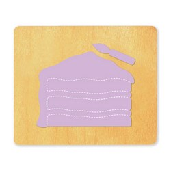 Ellison SureCut Die - Birthday Cake Slice - Large