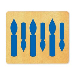 Ellison SureCut Die - Candles 6-Up - Large