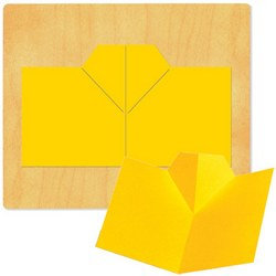 Ellison SureCut Die - Card 3-D, Plain - Extra Large