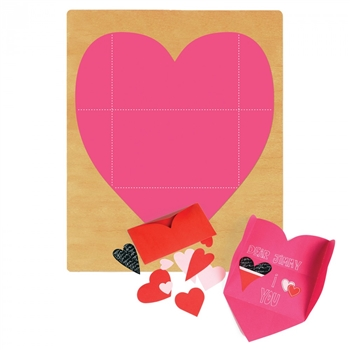 Ellison SureCut Die - Card, Heart Folded - Extra Large