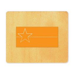 Ellison SureCut Die - Nameplate, Star - Large