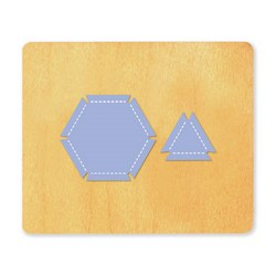 Ellison SureCut Die - Elastic Geometric Hexagon/Triangle - Large