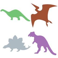 Ellison SureCut Die Set - Dinosaurs #1 (4 Die Set) - Large