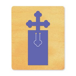 Ellison SureCut Die - Bookmark, Cross - Large