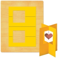Ellison SureCut Die - Card, Stand-Up w/Square - Extra Large