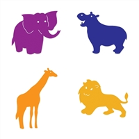 Ellison SureCut Die Set - Zoo Animals  (4 Die Set ) - Extra Large