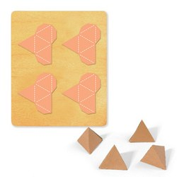 Ellison SureCut Die - Pyramid 3-D, Triangle Base 4-Up - Large