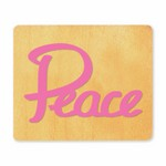 Ellison SureCut Die - Word, Peace - Large