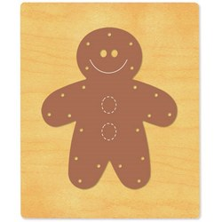 Ellison SureCut Die - Lacing Gingerbread Man - Extra Large