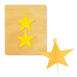 Ellison SureCut Die - Hanging Star 3-D - Large
