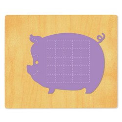 Ellison SureCut Die - Activity Card, Pig - Extra Large