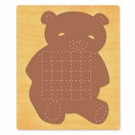 Ellison SureCut Die - Activity Card, Teddy Bear - Extra Large