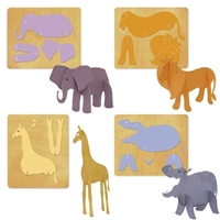 Ellison SureCut Die Set - 3-D Zoo Animals (4 Die Set) - Large