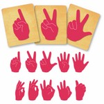 Ellison SureCut Die Set - Sign Language Number Set