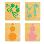 Ellison SureCut Die Set - Flowers & Leaves, Layered (4 Die Set) - Small