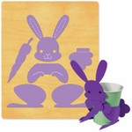Ellison SureCut Die - 3-D Animal Parts, Rabbit - Extra Large