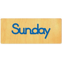Ellison SureCut Die - Word, Day - Sunday - Double Cut
