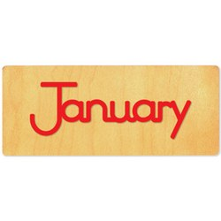 Ellison SureCut Die - Word, Month - January - Double Cut