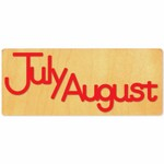 Ellison SureCut Die - Word, Month - July/August - Double Cut