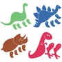Ellison SureCut Die Set - Movable Dinosaurs (4 Die Set) - Large