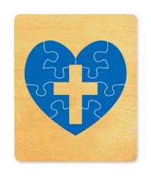 Ellison SureCut Die - Puzzle, Heart w/Cross - Large