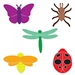 Ellison SureCut Die Set - Clothespin Critters (5 Die Set) - Large