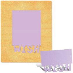 Ellison SureCut Die - Card, Wish - Extra Large