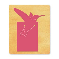 Ellison SureCut Die - Bookmark, Hummingbird - Large