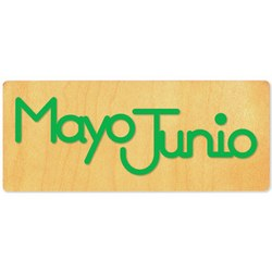 Ellison SureCut Die - Word, Spanish Month - Mayo/Junio - Double Cut