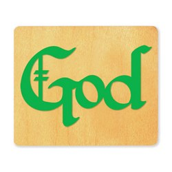 Ellison SureCut Die - Word, God - Large